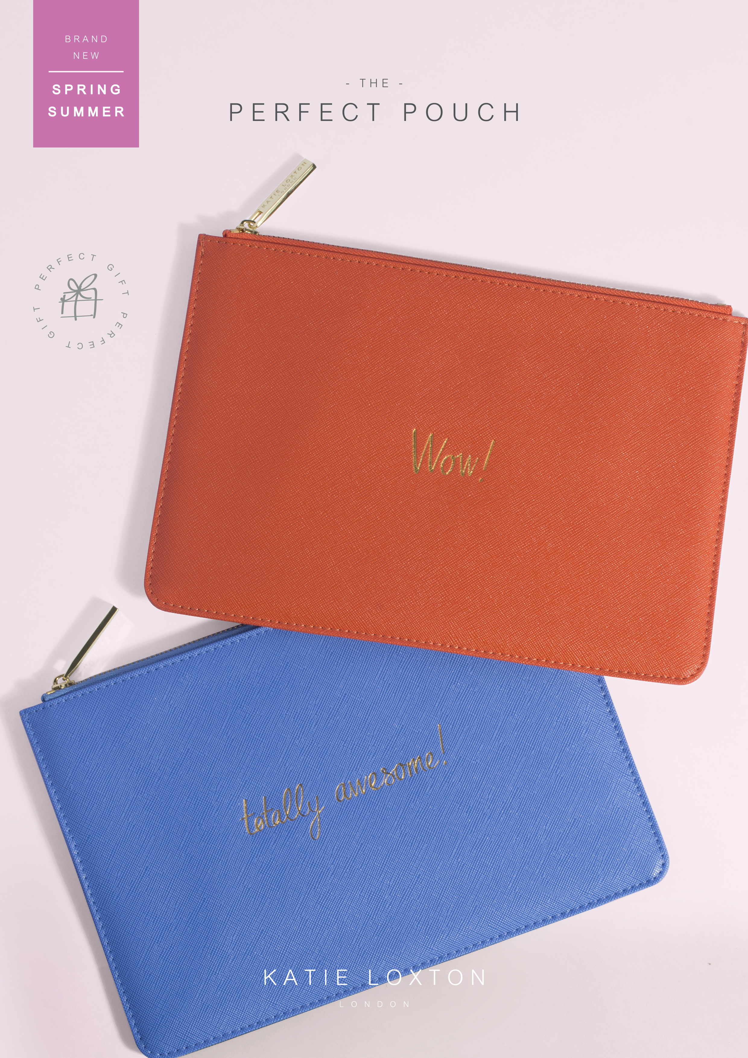 aa0558f1cea Katie Loxton Perfect Pouch orange - 'WOW!' with gift bag & tag ...