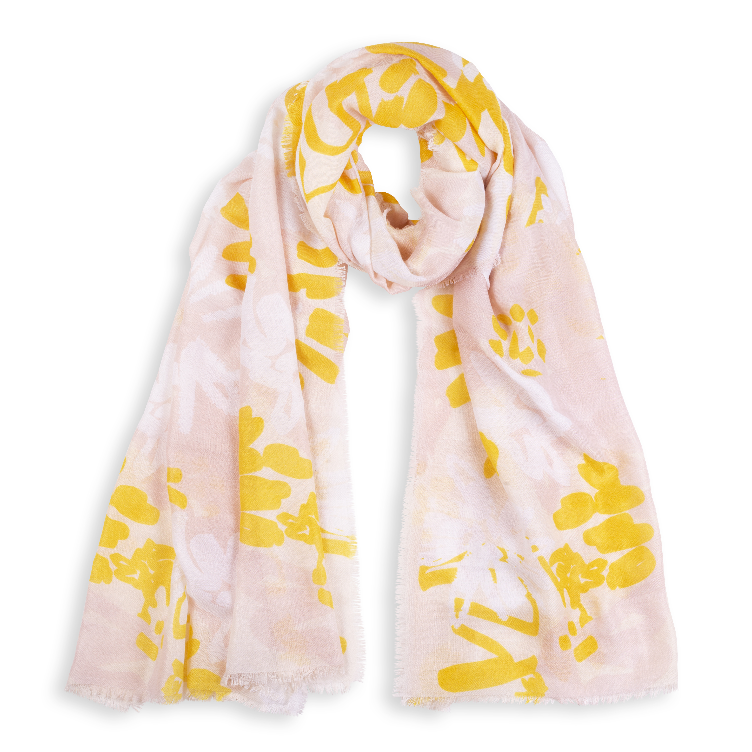 aa243b24ca436 Katie Loxton Floral Scarf - Peach and Yellow with gift bag and tag | Lily &  Stella